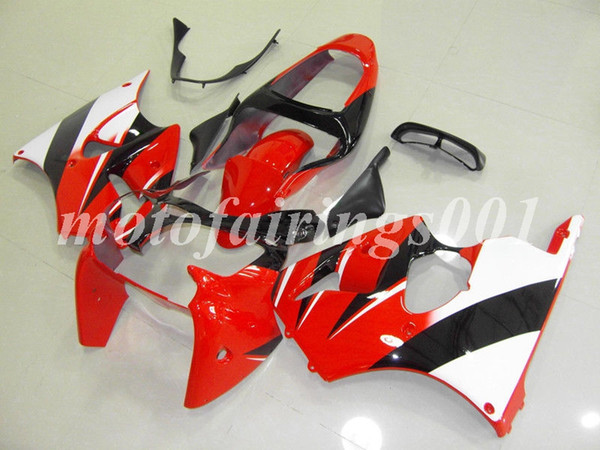 Custom Free Injection Mold New motorcycle parts Fairings kits for Kawasaki Ninja ZX-6R ZX6R 636 2000 2001 2002 ZZR600 00 01 02 Red white