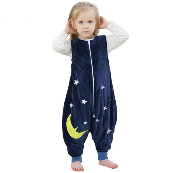 Bebê menino meninas pijama cartoon imagens flanela quente saco de dormir crianças evitar o pontapé colcha bebê cobertor sleeper crianças footed