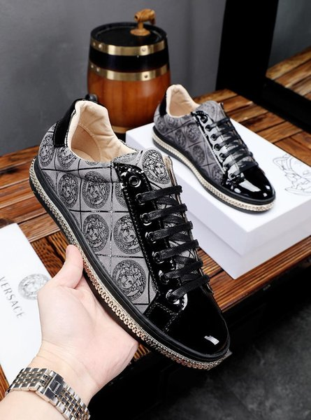 2019 son trend deri baskılı erkek rahat ayakkabılar, moda nefes spor ayakkabı, vahşi ayakkabılar, orijinal kutu ambalaj: 38-44