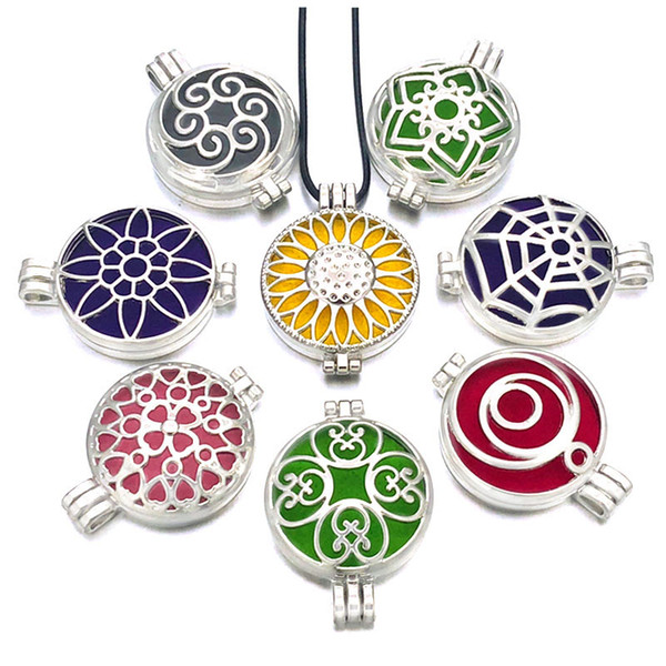 best selling Hot Geometric 012 Aroma Diffuser Pendant 12mm 18mm Snap Button Open Perfume Essential Oil Locket Necklace Women Gift Jewelry