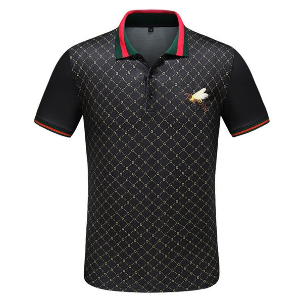 2019 High street Italy designer polo shirt Fashion Brand medusa t shirts mens Casual Cotton polos with embroidery applique