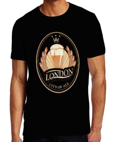 London Stadt Ale Tees T Shirts Druck Kurzarm T-Shirt Kostenloser Versand Kurzarm Druckbuchstaben