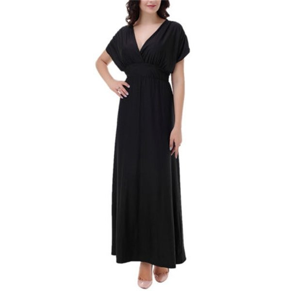 fashionDress Season Large Code Pure Color Fat Mm Full Dress Ladies casual suit