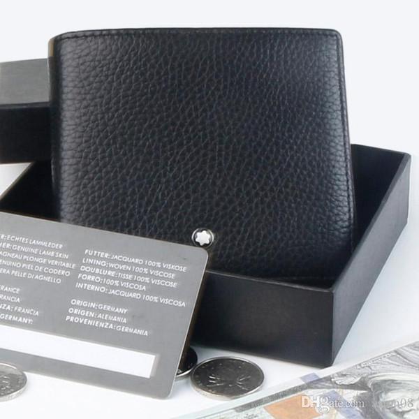 Promoción 1906 Titular de la tarjeta de bolsillo de la moneda alemana Cuero genuino MB Monedero Caliente, Gemelos de negocios Accesorios Traje Gemelos