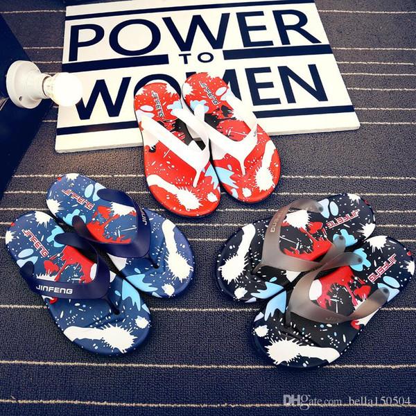 flip-flops beach slippers Hawaii summer Men Flip-Flops Beach Slippers Shoes Reef Sandals Colorful Non-Slip EVA Massage Slipper