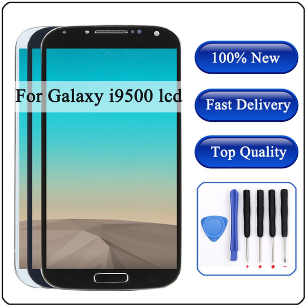 i545 I9500 i9505 lcd For SAMSUNG Galaxy S4 i9505 LCD Display Touch Screen Digitizer With Frame for SAMSUNG S4 i545 I9500 display