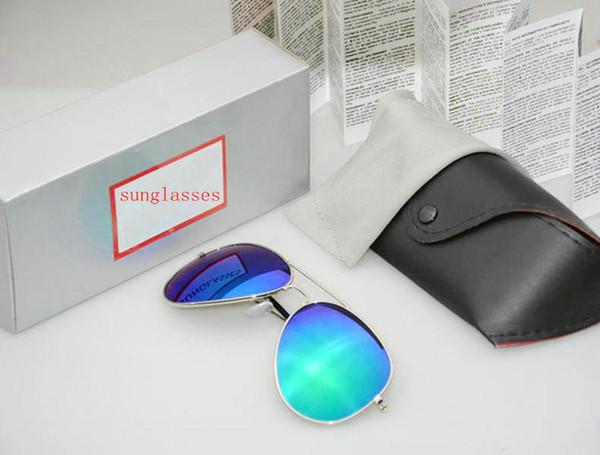 Lente de qualidade Moda Óculos De Sol Para Homens e Mulheres Marca designer Esporte Do Vintage óculos de Sol Com caixa e caixa