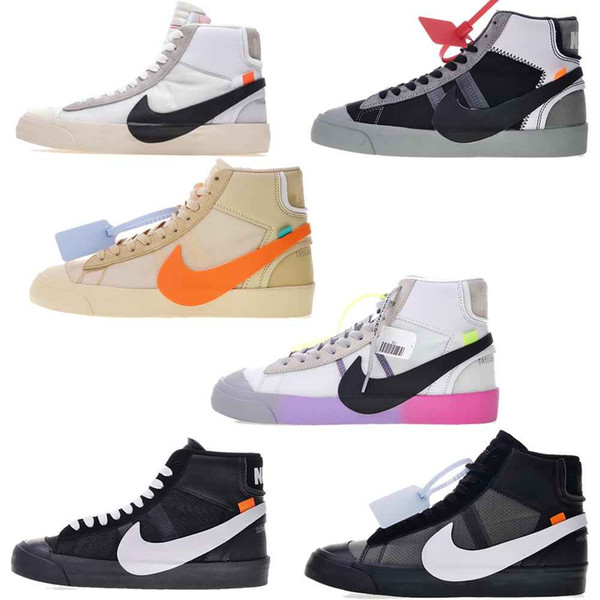 Off White x Nike Blazer Mid studio di Regina The Ten All Hallows Eve Grim Reepers Spettrale pacchetto Grim Reaper scarpe da tennis scarpe da corsa sportive 12106