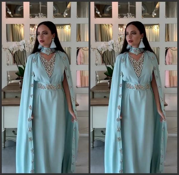 Élégant Blue Sky Brillante robes de soirée 2020 perles Robes de soirée de luxe Tenue de soirée robe robe de soirée de soirée Abendkleider