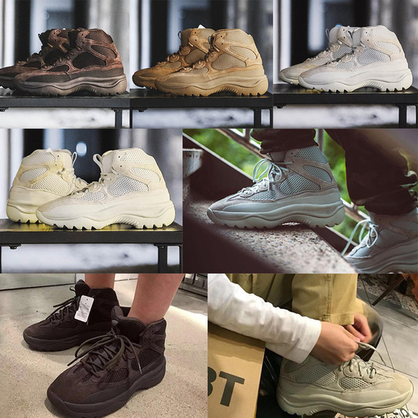 2019 Сезон 6 Desert Rat загрузки Kanye Мартин сапоги моды баскетбольной обуви сезона 6 звезд мужчины женщины пинетки для платформы на открытом воздухе trainersd9e5 #