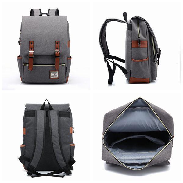 best selling 21 Colors Men Women Outdoor Sport Travel Bag Pack Fashion Vintage Canvas Backpack Shoulder Student School Rucksack ZZA964