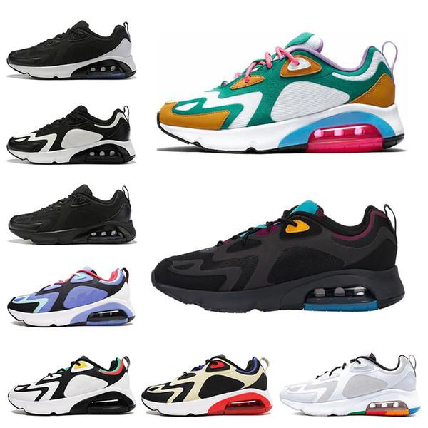 nike air max 200 Yeni 200 Bordo Çöl Kum Mistik Yeşil kadın erkek koşu ayakkabı üçlü Siyah Kraliyet Darbe erkek eğitmenler atletik spor sneakers 40-46