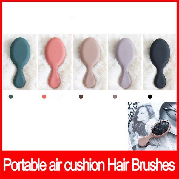 Famous brand Wet & Dry Hair Brushes Mini Portable Detangler Detangling Brush Massage Comb Make-up comb 5Colors