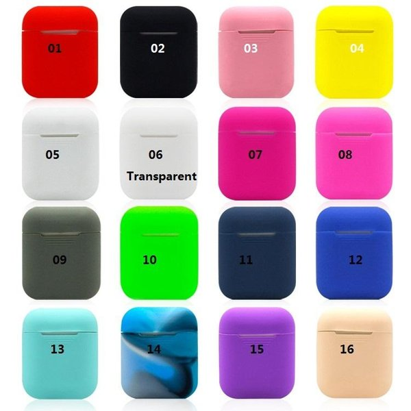 Für apple airpods silikonhülle weiche ultradünne schutzhülle hülle tasche für air pods bluetooth kopfhörer tpu case anti-lost strap