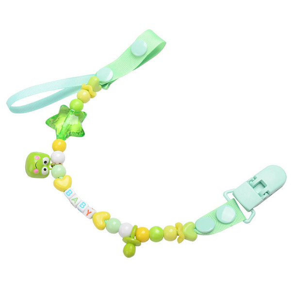 Cute Cartoon Baby Chevron Pacifier Clips kids toddlers Cartoon dot Safety Accessorie Baby Swings Baby Clips hot sale A6062