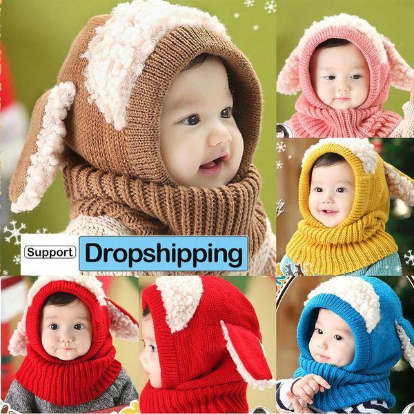 Winter Warm Infant Baby Girl Boy Earflap Kids Toddler Cartoon Cap Crochet Hat US