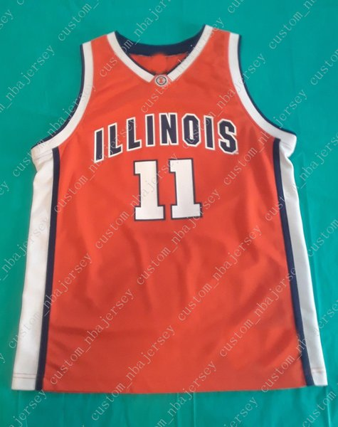 the best attitude cefd3 c3f9f 2019 Cheap Custom Illinois Fighting Illini Elite Basketball Jersey Orange  #11 Stitched Customize Any Number Name MEN WOMEN YOUTH XS 5XL From ...