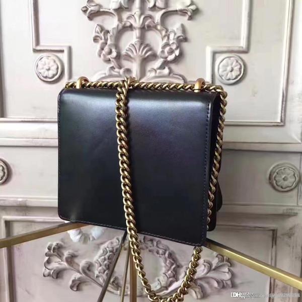 Hot sale Fashion ladies tote Handbag G Women's Shoulder Messager Bag genuine leather Ladies Dress Party Real Leather Metal Chain Handba