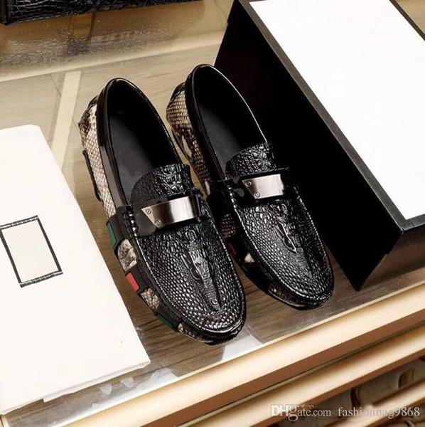 NUEVO Tamaño 38 44 Moda de cuero real de los hombres zapatos de vestir del dedo del pie acentuado Bullock Oxfords zapatos para hombres, zapatos de cordones de zapatos de diseñador
