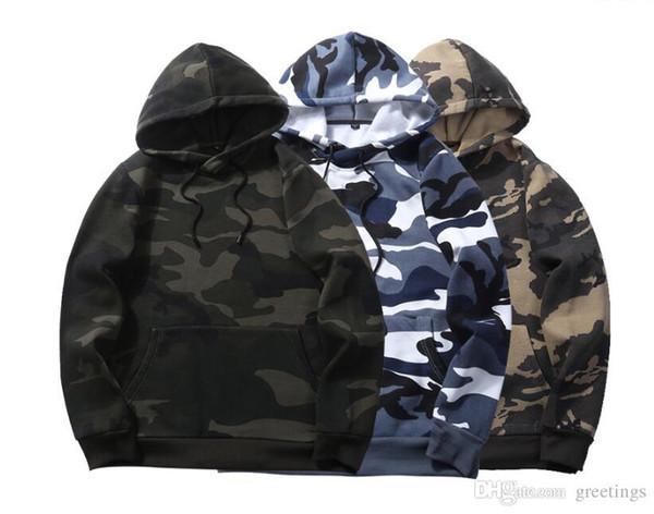 Autunno Inverno Casual Uomo Felpa con cappuccio Skateboard Sweartshirt Pullover marchio di abbigliamento tuta da uomo Camouflage Nero Hip Hop Felpa con cappuccio