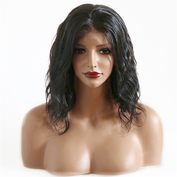 New Fashion Full Lace Wigs Swiss Lace Indian Long Natural Wave Vrigin Wigs No Tangle Natural Color On Stock Free Shipping