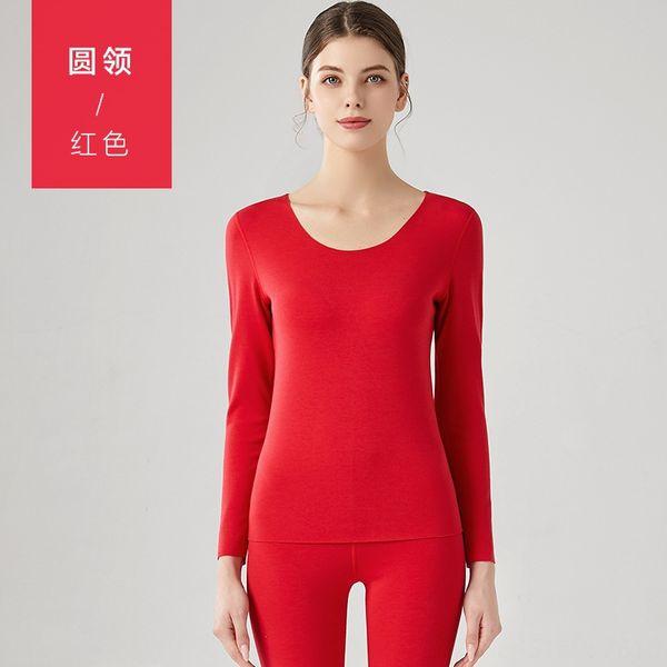 mulheres # 039; s gola redonda-Vermelho