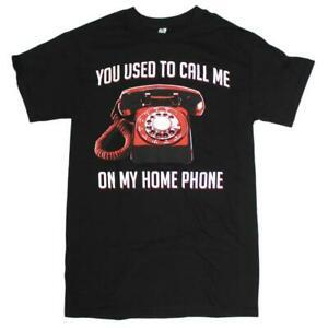 Mens Black You You Used To Call Me On My Home Phone Drake T-shirt grafica divertente