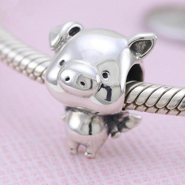Nuevo cerdo encanto Grano para Pulsera o Collar