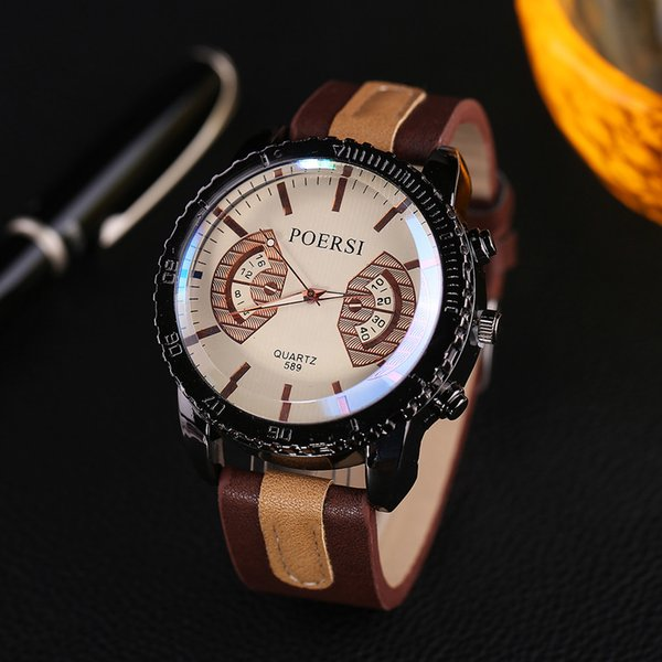 Relógios dos homens De Luxo De Quartzo Analógico Faux Leather Sport Vestido De Pulso Assista zegarki meskie reloj hombre marca de lujo uhren herren