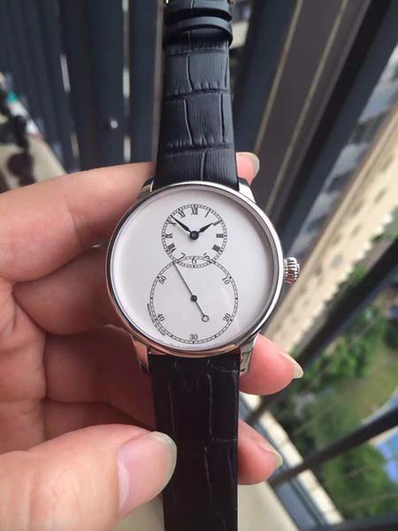 Импортировано 9015 автоматическое механическое движение, диаметр 40 мм, часы с использованием независимой большой дизайн секундной стрелки, 8 символов логотипа более счастливым