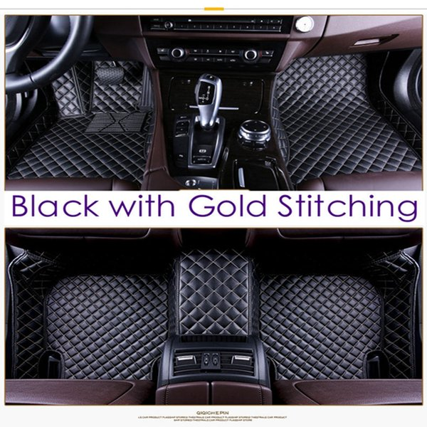 SCOT Custom Fit Leather Car Floor Mats for Acura TL All Weather Waterproof Anti-slip 3D Front & Rear Carpet Right-Hand-Driver-Model