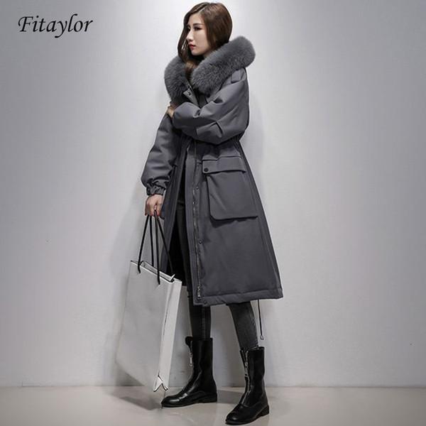Fitaylor Women Winter Puffer Duck Down Coat Hooded Parkas Warm Jacket