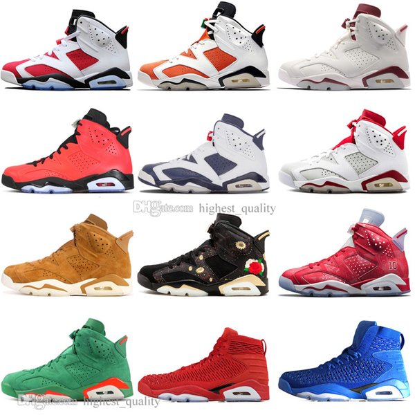 2019 Infrared Bred 6 6s Mens Basketball Shoes 3M Reflective Bugs Bunny Tinker Hatfield Black Cat Flint Men Sports Sneakers Designer US 7-13