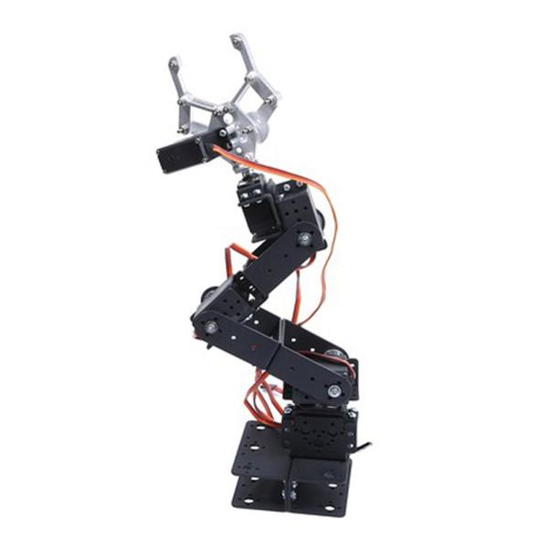 RCmall 6 DOF meccanica robot manipolatore Kit di braccio per Smart Car Arduino Robot piattaforma Parti di insegnamento o con servo FZ1765 / A