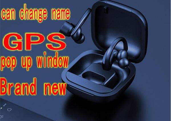 Name ändern TWS 5.0 H1 CHIP Power Pro Kopfhörer Earbuds drahtlose Bluetooth-Pop-up Serson SIRI Kopfhörer Kopfhörer Ohrhörer GPS-Auto
