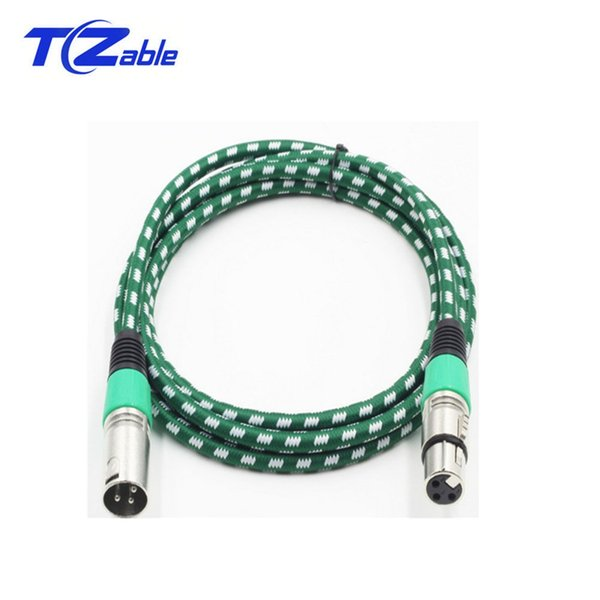 XLR Canon Head Female Cable Adapter Audio Jack Converter For Microphone Mixer Cable Woven Mesh 2 m 3 m 5 m