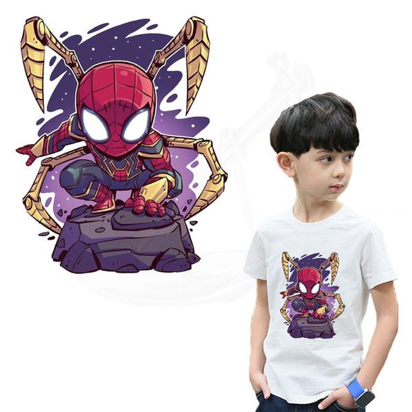 Dessin animé spiderman Patch pour vêtements 25 * 20.5 cm de fer sur des patchs enfant de bricolage T-shirt robes autocollant de transfert thermique