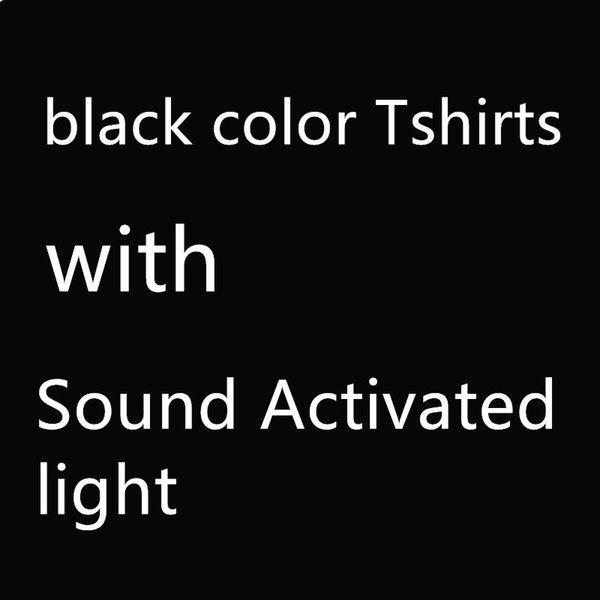 Camisetas negras, + sonido activado luz