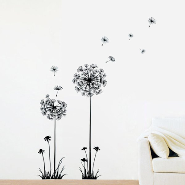 Creative Dandelion Removable Wall Stickers Hot Sale New Arrival Mural PVC Home Decor Wall Stickers for Your Home Living Room