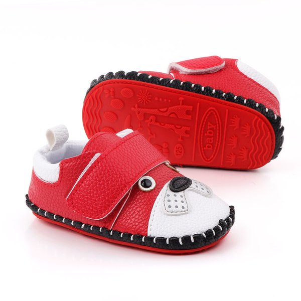 Cartoon Baby Boys Girls Canvas Toddler Sneaker Anti-slip First Walkers Shoes 0-18 Months Animal-D4