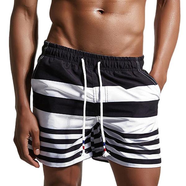 Board Shorts Men Beach Swimwear Swim Short Trunk Stripes Bermudas Man Boardshorts Male Sport Sweatpants Inside Mesh Liner