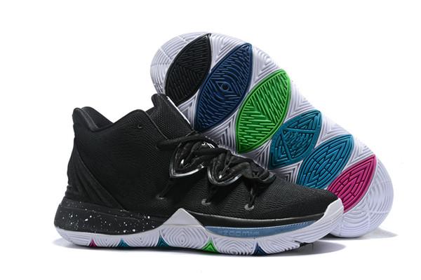 Kyrie 5 Siyah Sihirli Zoom Turbo 5 s V yayın tarihi düşük söylentiler sneakers lansmanı kaçak kavramını özelleştirmek kyrie kyrie 5 us boyut 7-12