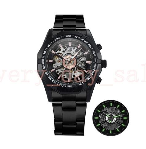 Winner Watch Men 45mm Skeleton Automatic Mechanical Watch Gold Skeleton Vintage Man Watches Mens FORSINING Watch Top Brand Luxury 116610