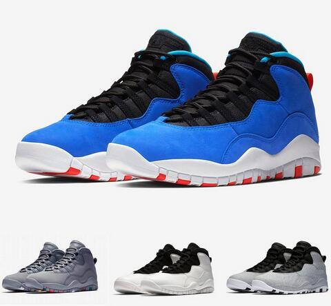 With Box 10s Tinker Cement I'm Back Cool Grey Basketball Shoes Mens 10 Sports Sneakers Wholesale Drop Ship