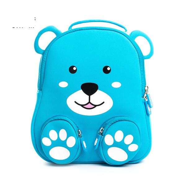 Cocomilo Brand 3d Bear Kids Cartoon Animal Backpack Schoolbag Kindergarten Anti-lost Waterproof School Bags For Baby Girls Boys