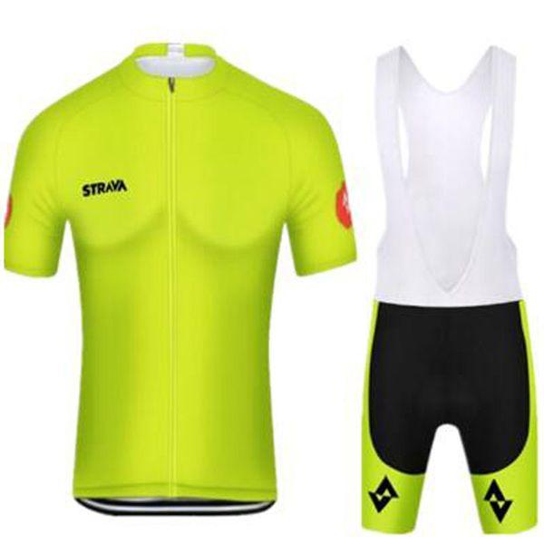 Новый 2019 Pro Team STRAVA Велоспорт с короткими рукавами трикотажные шорты (нагрудники) комплекты Дышащий Гоночный Велосипед Велоспорт Одежда Ropa Ciclismo Hombre