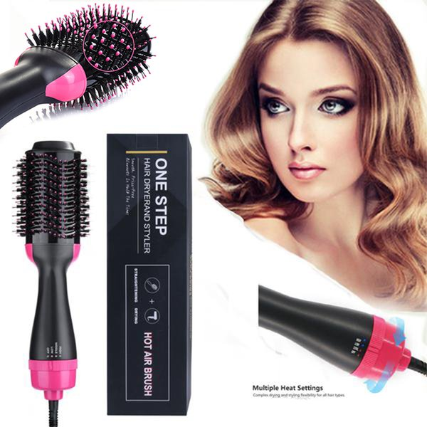 Electric Magic Air Brush One Step 4in1 Hot Hair Dryer & SVolumizer Salon tyler Multifunctional Straighteners Curler Comb for All Types New