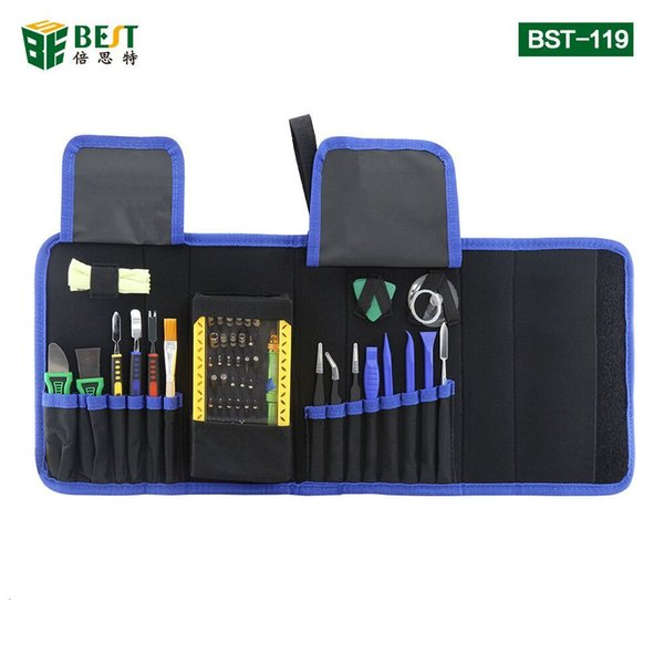 Cımbız Spudger meraklı aracıyla BST-119 Manyetik Hassas Tornavida Seti Demonte Tamir Laptop Cep Telefonu Aracı Seti