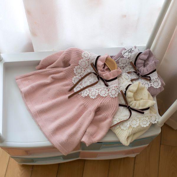 Bebek Kız Kazak Kış Güz Örme Elbise Kız Noel Triko Bebek Kazak Toddler Sevimli Giysiler Için yüksek kalite 12 M