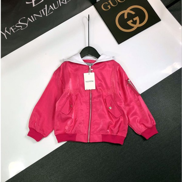 Girls jacket kids designer clothing autumn new baseball uniform coat cute energetic hooded design jacket